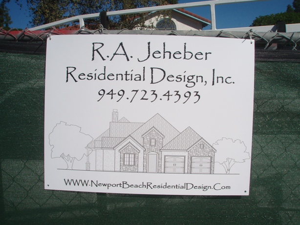 R.A. Jeheber Job Sign