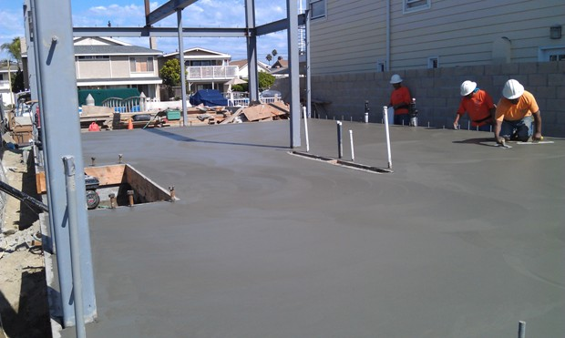Finished concrete slab at 3512 Marcus Avenue